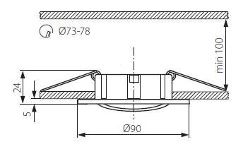 Einbauring SIMI griechischer Stil GU5.3 / GU10