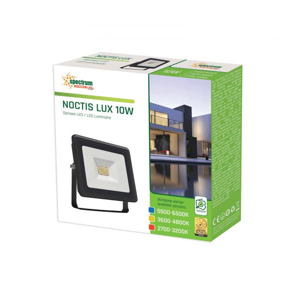 LED Fluter / Scheinwerfer NOCTIS Lux in Schwarz 10 Watt - Lichtfarbe wählbar -3.600 - 4.800 K neutralweiß