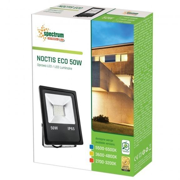 LED Fluter / Scheinwerfer NOCTIS Eco in Schwarz 50 Watt Lichtfarbe wählbar-5.500 - 6.500 K kaltweiß