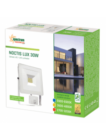 LED Fluter / Scheinwerfer NOCTIS Lux in Weiß 30 Watt mit Bewegungsmelder