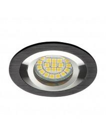Deckeneinbaurahmen gebürstetes Aluminium Schwarz rund