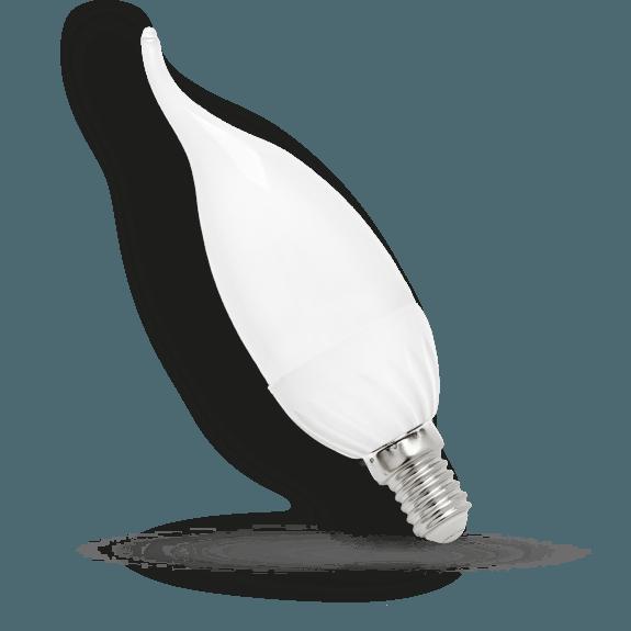LED Kerze mit gebogener Spitze E14 kaltweiß