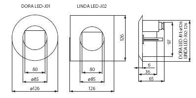 LED Wandeinbaustrahler IP65 Eckig