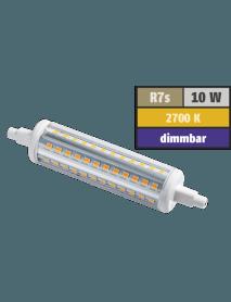 LED Strahler R7s 10 Watt 1.000 Lumen 118 mm 360° warmweiß dimmbar
