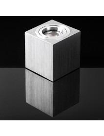 Deckenaufbauwürfel Aluminium GU10 drehbar