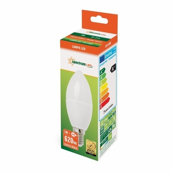LED Lampe Kerzenform E14 7 Watt warmweiß