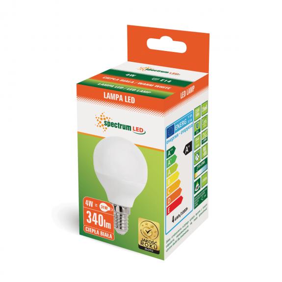 Kleine E14 LED Lampe 4 Watt 350 Lumen warmweiß