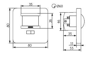 MARID Bewegungssensor 12 Meter akustisches Signal