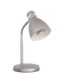 Schreibtischleuchte mit E14 Sockel in Silber
