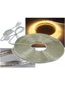 LED-Stripe Ultra-Bright 230V 10 Meter mit 100 Watt und 6000 Lumen Warmweiß