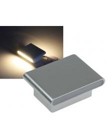 LED Wandleuchte WL 106G in grau mit 390lm und 6W