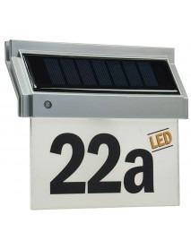 Solar Hausnummernleuchte mit LED Beleuchtung