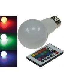 LED Glühlampe E27 RGBW mit Fernbedienung 5W