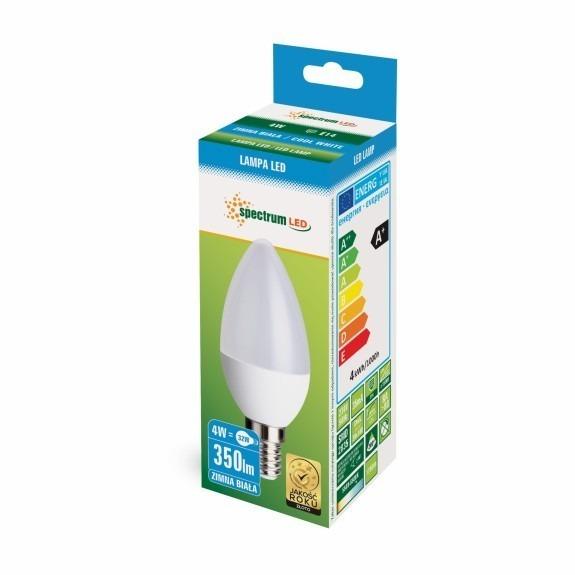 4 Watt LED Lampe Kerzenform E14 kaltweiß