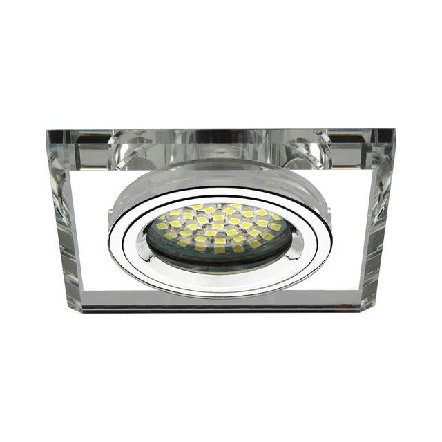 Glas Deckeneinbauleuchte GU5.3 / GU10 Fassung Klar