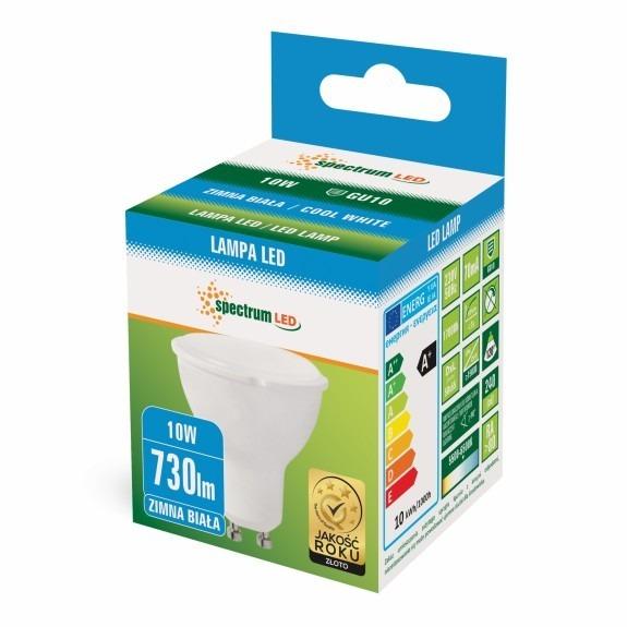 LED Strahler / Spot GU10 690 / 730 Lumen 10 Watt Lichtfarbe wählbar-5.500 - 6.500 K kaltweiß