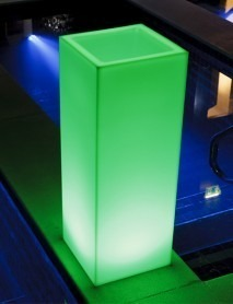 LED Pflanzkübel MAMBO L 40x40x77cm