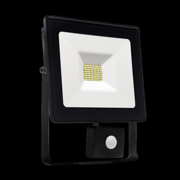 LED Fluter / Scheinwerfer NOCTIS Lux in Schwarz 10 Watt mit Bewegungsmelder - Lichtfarbe wählbar