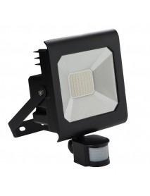 50 Watt LED Fluter mit Bewegungsmelder von Kanlux IP44 Schwarz
