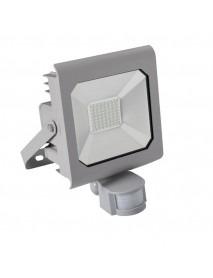 50 Watt LED Fluter mit Bewegungsmelder von Kanlux IP44 Grau