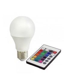 Bioledex E27 Leuchtmittel 7,5 Watt RGB und Warmweiß mit Fernbedienung