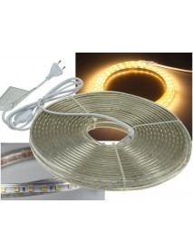 LED-Stripe Ultra-Bright 230V 20 Meter mit 200 Watt und 12000 Lumen in Warmweiß