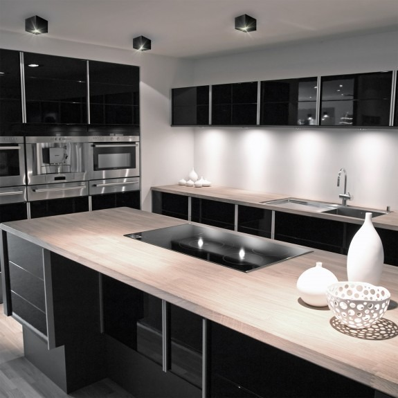 Eckiges Aufbaudownlight Design GU10 Silber