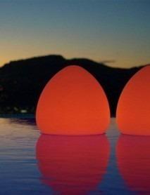 LED RGB Bluetooth Schwimmleuchte Stone 26 x 27 cm