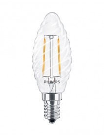 Philips LED Filament Kerzenform 2 Watt gedreht