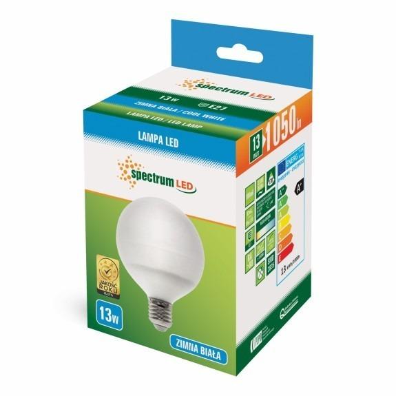 LED Globe Birne E27 13 Watt 1050 Lumen kaltweiß