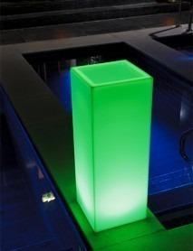 LED Pflanzkübel MAMBO XL 35x35x110cm