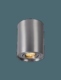 Schwarzes Aufbaudownlight GU10 Fassung schwenkbar