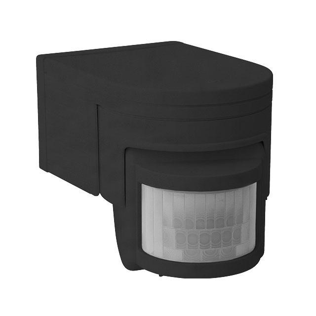 Bewegungsmelder IP44 Außenbetrieb Schwarz
