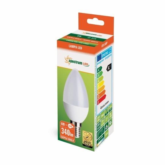 4 Watt LED Lampe Kerzenform E14 warmweiß