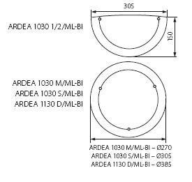 Deckenleuchte ARDEA 2 x E27 IP20 verschiedene Größen