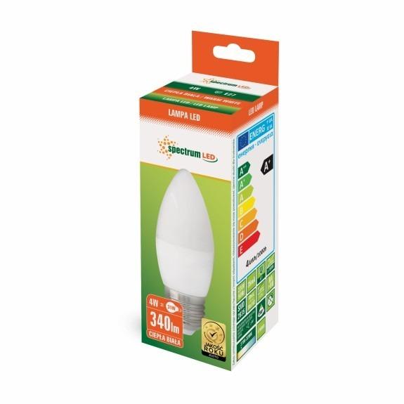 LED Lampe Kerzenform E27 4 Watt 350 Lumen warmweiß