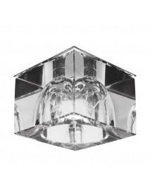 Dekorative Deckenleuchte rechteckig in Glas-/Chrom-Design