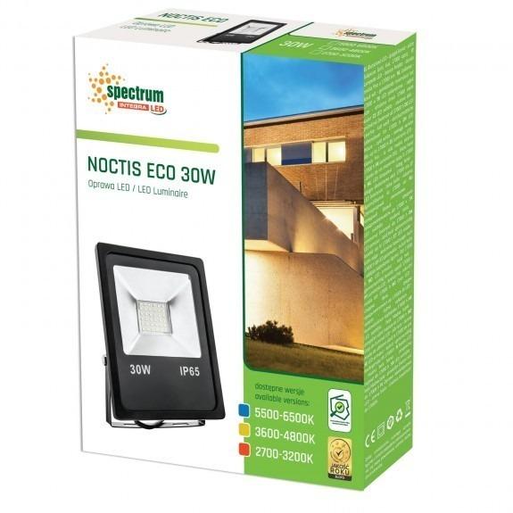 LED Fluter / Scheinwerfer NOCTIS Eco in Schwarz 30 Watt Lichtfarbe wählbar-3.600 - 4.800 K neutralweiß