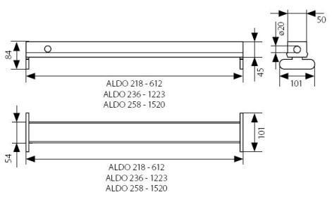 Doppelfassung für LED Röhren Metall Kanlux