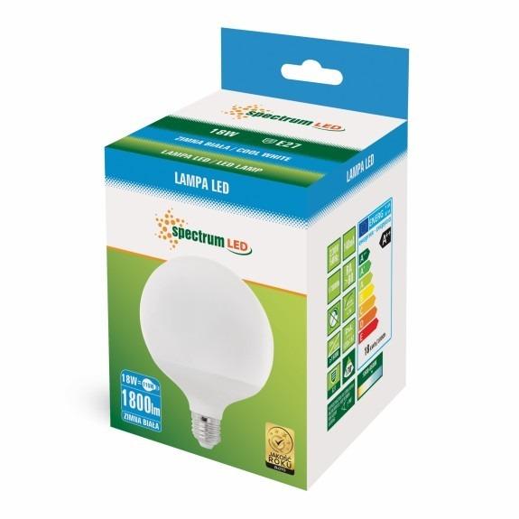 LED Globe Birne E27 18 Watt 1800 Lumen kaltweiß