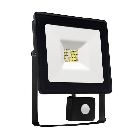 LED Fluter / Scheinwerfer NOCTIS Lux in Schwarz 10 Watt mit Bewegungsmelder