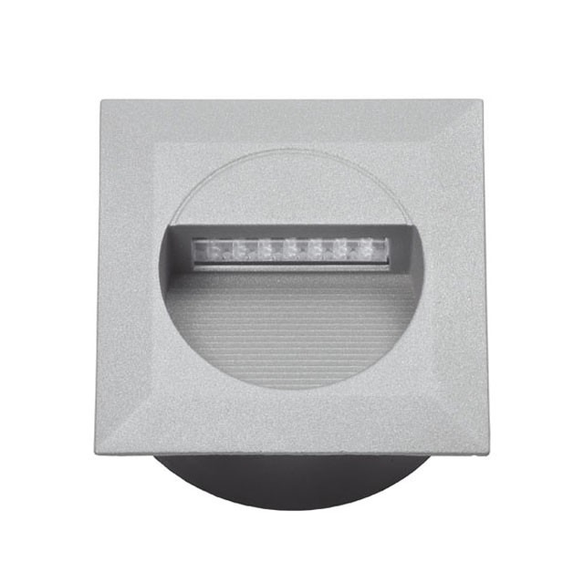 LED Wandeinbaustrahler 1,2 Watt IP65 Neutralweiß Eckig