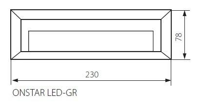 LED Wandaufbaustrahler ONSTAR 1,7 Watt