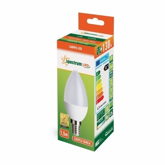LED Lampe Kerzenform E14 1,5 Watt warmweiß