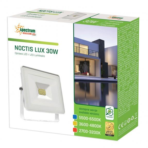 LED Fluter / Scheinwerfer NOCTIS Lux in Weiß 30 Watt