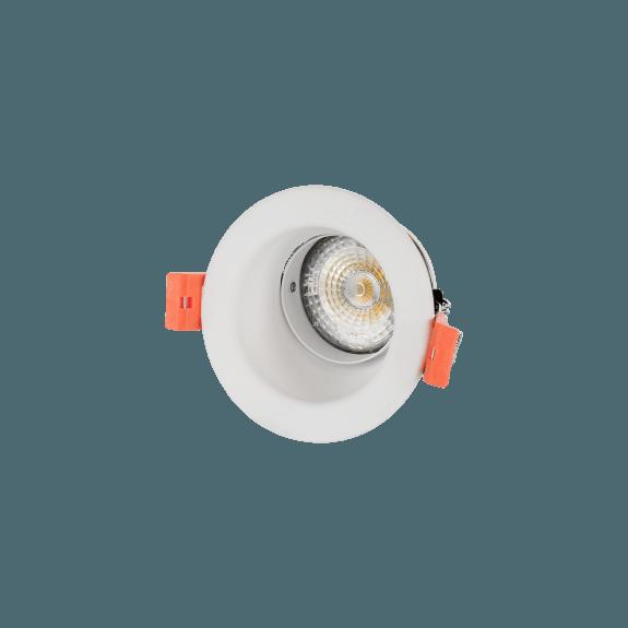 Einbaudownlight GU10 schwenkbar rund weiß