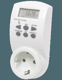 Digitale Zeitschaltuhr mit Wochenend- 7-Tage-Funktion bis 3.500 W