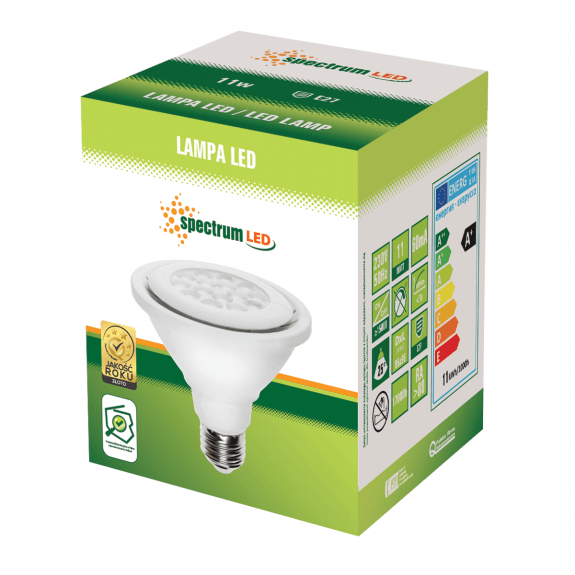 Spectrum LED PAR 30 Strahler E27 800 Lumen Warmweiß