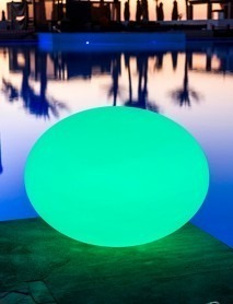 LED Schwimmleuchte RGB Bluetooth FLATBALL L 50x36cm