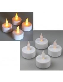 LED Teelichter 4er Set mit Luftzugsensor